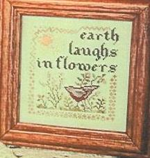 The Sewing Circle - Earth Laughs - Cross Stitch Chart-The, Sewing, Circle, Earth, Laughs, bird, flowers, sampler, Cross Stitch Chart
