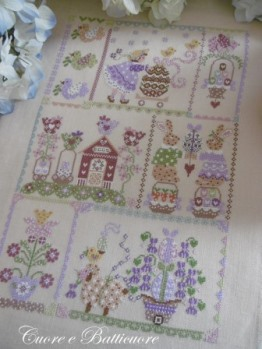 Cuore e Batticuore - Easter Quilt-Cuore e Batticuore - Easter Quilt, spring, flowers, nashville, cross stitch, quilting,