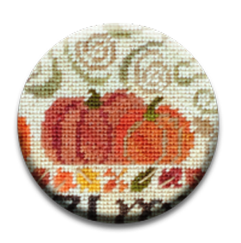 Stitch Dots - Erica Michaels Designs - Fall for Autumn Needle Nanny-Stitch Dots - Erica Michaels Designs - Fall for Autumn Needle Nanny, autumn, pumpkin, cross stitch. magnet,