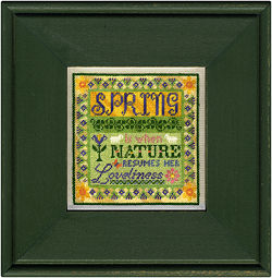 Erica Michaels Needleart - 4 Seasons - Spring-Erica Michaels Needleart Designs, 4 Seasons, Spring, blooming flowers, renewing, beach cottage stitchers, silk gauze, Cross Stitch Chart Pack