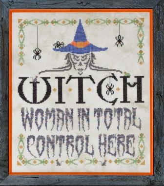 Glendon Place - Witch - Limited Edition-Glendon Place - Witch, women, Halloween, women in total control here, cross stitch,