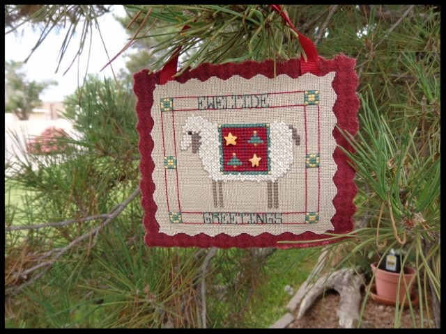 Faithwurks Designs - Eweltide Greetings-Faithwurks Designs - Eweltide Greetings, Christmas, sheep, cross stitch