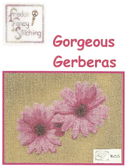 Freda's Fancy Stitching - Gorgeous Gerberas-Fredas Fancy Stitching - Gorgeous Gerberas, flowers,pretty,pink, cross stitch