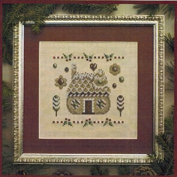 Filigram - Christmas Cookies Collection - Cookies House - Cross Stitch Pattern-Filigram, Christmas Cookies Collection, Cookies House, gingerbread house, cookies, candy, Christmas, holly leaves, Cross Stitch Pattern