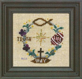 Bent Creek - Find Your Way > To Easter - Cross Stitch Pattern-Bent Creek, Find Your Way  To Easter, Jesus, truth, life, hope, peace, Cross Stitch Kit