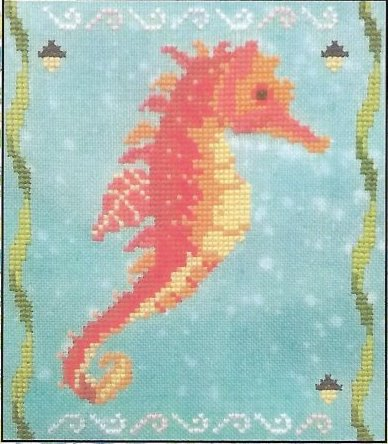 Fireside Originals - A Year of Seahorses 09 - September-Fireside Originals - A Year of Seahorses 09 - September, fish, cross stitch, ocean,