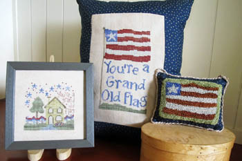 From The Heart - Needleart by Wendy - Grand Old Flag Cross Stitch and Punch Needle
