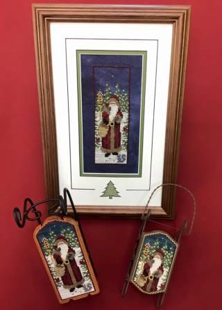 Foxwood Crossings - Morning Star Santa-Foxwood Crossings - Morning Star Santa,ornament, Santa Claus, cross stitch