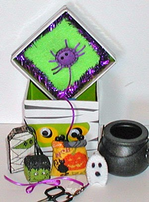 Praiseworthy Stitches - Frankie & Friends Sewing Box - 2015 Nashville Limited Edition Release-Praiseworthy Stitches - Frankie  Friends Sewing Box - 2015 Nashville Limited Edition Release, halloween, cross stitch,