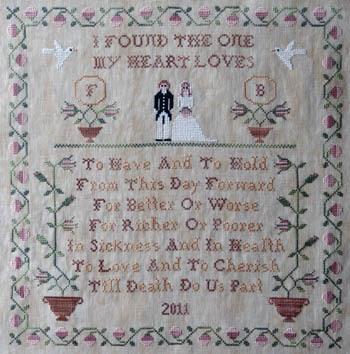New York Dreamer - From This Day Forward - Cross Stitch Pattern-New York Dreamer, From, This, Day, Forward  Cross Stitch Pattern, wedding, love, marriage