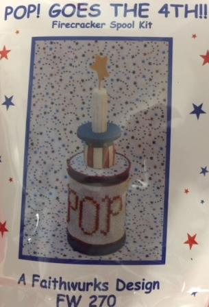 Faithwurks Designs - POP! Goes the 4th!-Faithwurks Designs - POP Goes the 4th , 4th of July, patriotic, USA, firecrackers, cross stitch