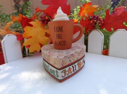 Faithwurks Designs - I Love Fall a Latte Kit-Faithwurks Designs - I Love Fall a Latte Kit, autumn, fall, coffee, pumpkin spice, Starbucks, cross stitch, coffee cup,