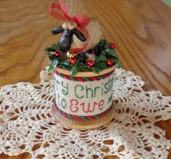 Faithwurks Designs - Merry Christmas to Ewe Spool Kit-Faithwurks Designs - Merry Christmas to Ewe Spool Kit, Christmas, sheep