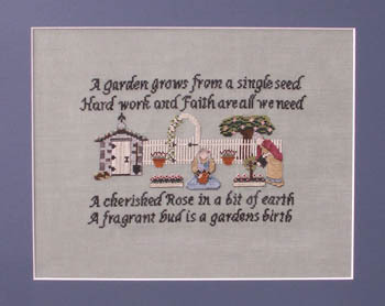 Ships Manor - Gardening Spinsters - Cross Stitch Pattern