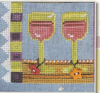 SamSarah Design Studio - Daily Life - Pearl 06 of 12 - Drink Good Wine! - Cross Stitch Pattern