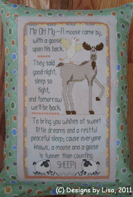Designs by Lisa - A Moose & A Goose - Cross Stitch Pattern