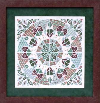 Glendon Place - Fudgy Mint Mousse-Glendon Place,  Fudgy Mint Mousse, A-maz-ing Deserts collection, Cross Stitch Pattern