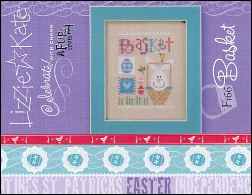 Lizzie Kate - Celebrate with Charm - Basket-Lizzie Kate - Celebrate with Charm - Basket, Easter, Easter Eggs, spring, cross stitch