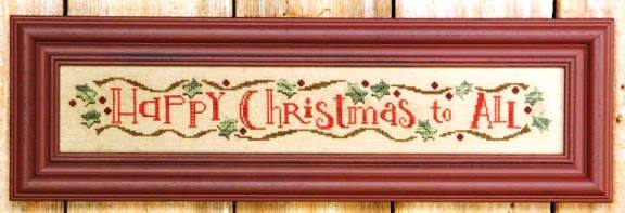 Bent Creek - Happy Christmas Row-Bent Creek - Happy Christmas Row, Merry Christmas, family, holidays, greeting, cross stitch