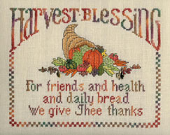 Sue Hillis Designs - Harvest Blessing - Cross Stitch Chart with Charms-Sue Hillis Designs,  Harvest Blessing,  with charms, Cross Stitch Chart