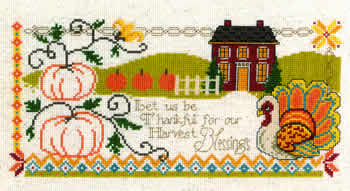 Imaginating - Harvest Blessings-Imaginating - Harvest Blessings, fall, Thanksgiving, thankful, Cross Stitch Pattern