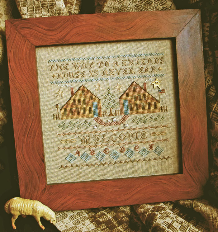Homespun Elegance - The Way to a Friend's House - Cross Stitch Pattern-Homespun Elegance, The Way to a Friend's House, Cross Stitch Pattern