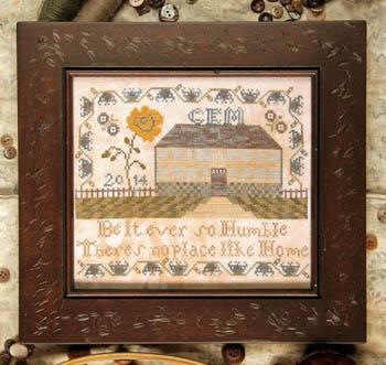 Heartstring Samplery - Be It Ever So Humble - Cross Stitch Chart-Heartstring Samplery, Be It Ever So Humble, home sweet home, house, family, Cross Stitch Chart