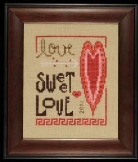 Heart in Hand Needleart - 2014 Collector's Heart - Love Sweet Love Kit-Heart in Hand Needleart, 2014 Collectors Heart,  Love Sweet Love, annual heart, valentines day, love, romance, Cross Stitch Kit