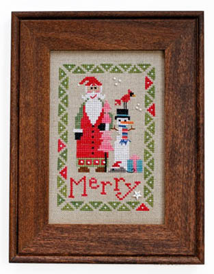 Heart in Hand Needleart - 2015 Wee Santa-Heart in Hand Needleart - 2015 Wee Santa , Santa Claus, Christmas, snowman, cardinal, christmas tree, mouse, gifts, cross stitch