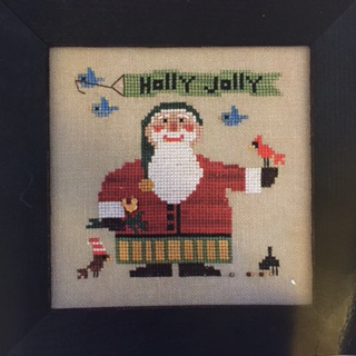 Heart in Hand Needleart - Wee Santa 2016-Heart in Hand Needleart - Wee Santa 2016, Santa Claus, Holly Jolly, Christmas, cardinal, blue bird, cross stitch