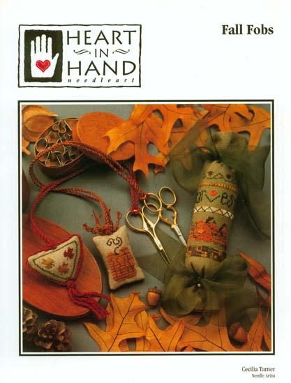 Heart in Hand Needleart - Fall Fobs - Cross Stitch Patterns