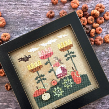 Heart in Hand Needleart - Harvest on Dahlia Ridge-Heart in Hand Needleart - Harvest on Dahlia Ridge,  fall, pumpkins, crow, autumn, girls, cross stitch