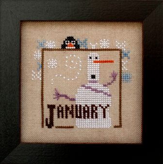 Heart in Hand Needleart - Joyful Journal - Part 02 of 12 - January-Heart in Hand Needleart, Joyful Journal, Part 2 of 12, January, new year, snowman, winter, Cross Stitch Pattern