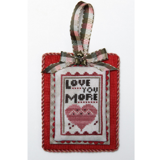 Heart in Hand Needleart - Merry Making Mini - Love You More-Heart in Hand Needleart - Merry Making Mini - Love You More, hearts, romance, cross stitch, Valentine