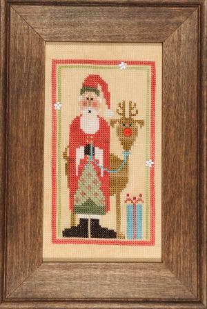 Heart in Hand Needleart - 2013 Wee Santa-Heart in Hand Needleart - 2013 Wee Santa , Santa Claus, Rudolf, red nosed reindeer, Christmas eve, gifts, snowflakes, Cross Stitch Pattern