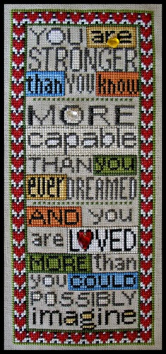 Hinzeit - Charmed - You Are Loved-Hinzeit - Charmed - You Are Loved - love, heart,  Cross Stitch Pattern