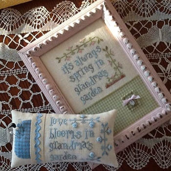 Hands On Design - Grandma's Garden - Cross Stitch Chartpack-Hands On Design - Grandmas Garden - Cross Stitch Chart Pack, grandchildren, love, pincushion,