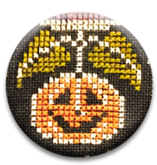 Stitch Dots - Hands On Design - Farmhouse Chalk - Smiling Jack Needle Nanny-Stitch Dots - Hands On Design - Farmhouse Chalk - Smiling Jack Needle Nanny, pumpkin, fall, autumn, Halloween, magnets, cross stitch