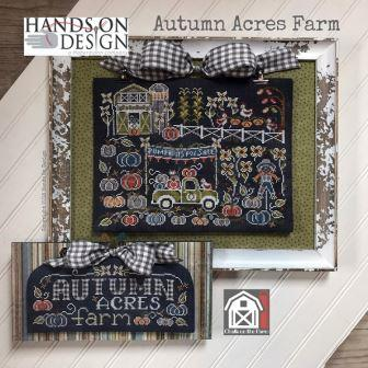 Hands On Design - Chalk on the Farm - Autumn Acres Farm-Hands On Design - Chalk on the Farm - Autumn Acres Farm, country, farm truck, corn, Fall, pumpkins, barn, cross stitch