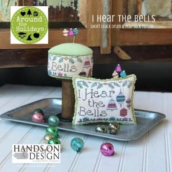 Hands On Design - Around the Holidays - I Hear the Bells-Hands On Design - Around the Holidays - I Hear the Bells, Christmas, ornaments, bells, decorating, pin cushion