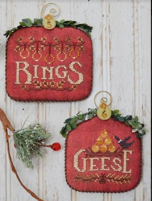 Hands On Design - 12 Days - Part 3 - Rings & Geese-Hands On Design - 12 Days - Part 3 - Rings  Geese, Christmas ornaments, Christmas songs, cross stitch