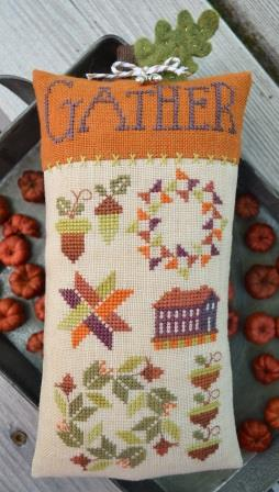 Hands On Design - Thyme to Gather - Chart Pack-Hands On Design - Thyme to Gather, chart Pack, Fall, leaves, home, cross stitch