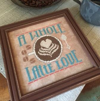 Hands On Design - Cool Beans - A Whole Latte Love-Hands On Design - Cool Beans - A Whole Latte Love, coffee, morning, cup of coffee, hot drinks, cold coffee, cross stitch