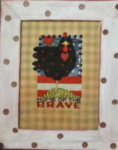 Amy Bruecken Designs - Home of the Brave-Amy Bruecken Designs - Home of the Brave, USA, patriotic, cross stitch