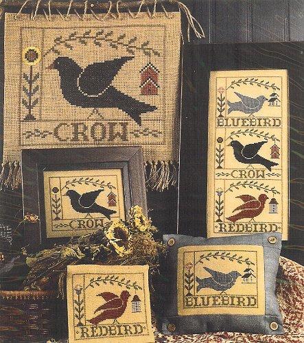 Homespun Elegance - Birds of a Feather Cross Stitch Pattern-Homespun Elegance NEW! Birds of a Feather