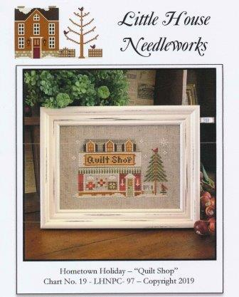 Little House Needleworks - Hometown Holiday - Quilt Shop-Little House Needleworks - Hometown Holiday - Quilt Shop, quilting, fabric, sewing, store, neighborhood, cross stitch