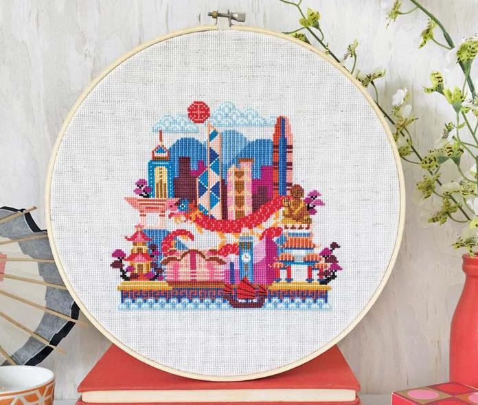 Satsuma Street - Pretty Little Hong Kong-Satsuma Street - Pretty Little Hong Kong, China, cities, cross stitch