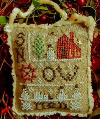 Homespun Elegance - 2014 Snowman Ornament - Snowmen Everywhere - Cross Stitch Pattern-Homespun Elegance , 2014 Snowman Ornament, Snowmen Everywhere,  Cross Stitch Pattern