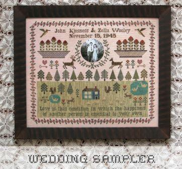 Heartstring Samplery - Wedding Sampler-Heartstring Samplery - Wedding Sampler, marriage, love, family,