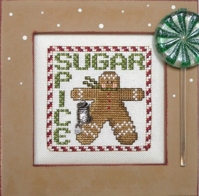 Hinzeit - Sugar / Spice-Hinzeit - Sugar  Spice, gingerbread man, Christmas, baking,  cross stitch